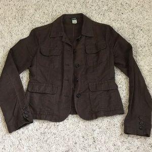 J.Crew linen jacket/blazer in brown
